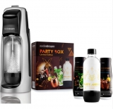 SODASTREAM JET BLACK/SILVER + PARTY BOX SADA