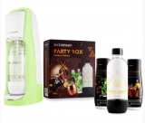 SODASTREAM JET PASTEL GRASS GRE (GG)+PARTY BOX SADA
