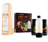 SODASTREAM JET PASTEL ORANGE (OR) + PARTY BOX SADA