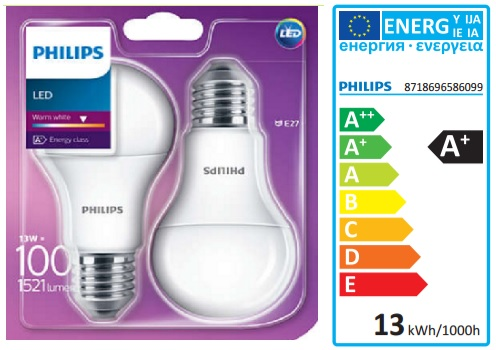 PHILIPS LED žiarovka 13,5 W (100 W)